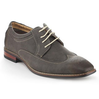 Ferro Aldo Men's MFA-19280 Grey Wing Tip Oxfords