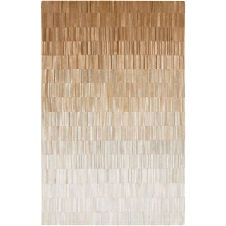 Handmade Ricardo Stripe Pattern Leather Rug (8' x 10')
