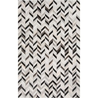 Handmade Presley Geometric Pattern Leather Rug (8' x 10')
