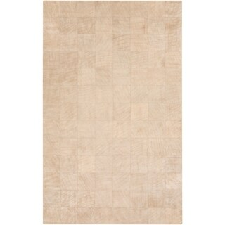 Handmade Phyllis Geometric Pattern Leather Rug (8' x 10')