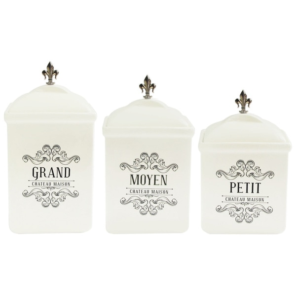 Chateaux Maison Square 3-piece Canister Set