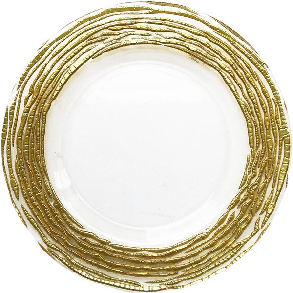 Arizona Gold/ Clear Charger Plate