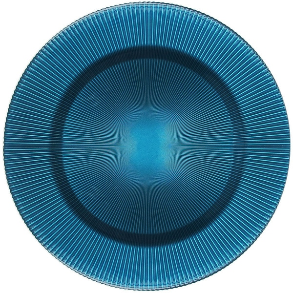 Sunray Turquoise 13-inch Glass Charger 14917419
