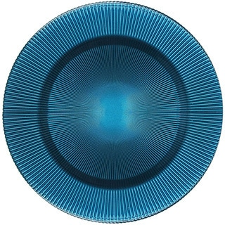 Sunray Turquoise 13-inch Glass Charger