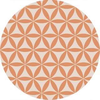 Hand-Hooked Lucy Geometric Polyester Rug (3' Round)