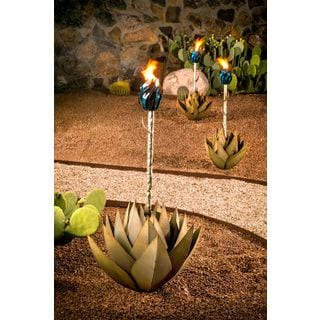 Desert Steel Small Blue Agave with Torch