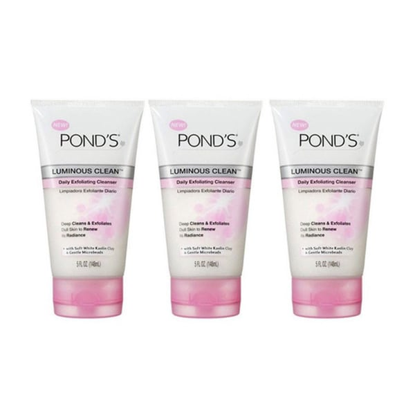 Pond's Luminous Clean 5-ounce Daily Exfoliating Cleanser (Pack of 3)