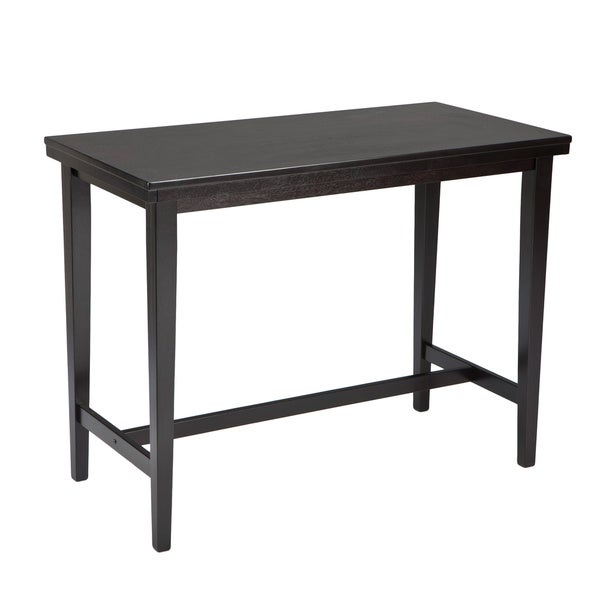 By Ashley Kimonte Dark Brown Rectangular Dining Room Counter Table