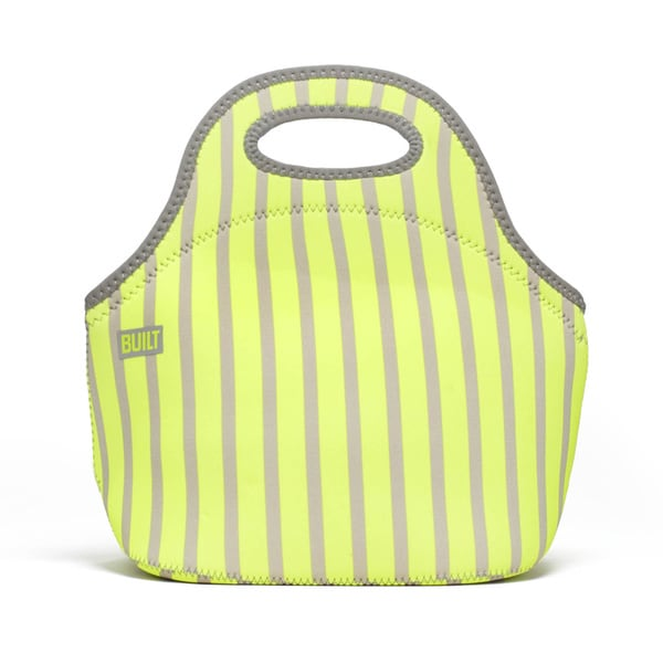 Built Neon Stripe Lime Gourmet Getaway Lunch Tote