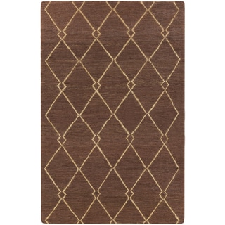 Hand-Woven Cristina Geometric Pattern Jute Rug (8' x 11')
