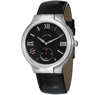 Philip Stein Women's 42-BK-LB 'Novelties' Black Dial Black Leather Strap Quartz Watch