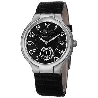 Philip Stein Women's 41-FB-ZB 'Novelties' Black Dial Black Leather Strap Swiss Quartz Watch
