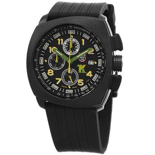 Luminox Men's A.1101 'SXC' Black Dial Black Rubber Strap Tony Kanaan Chronograph Watch