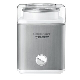 Cuisinart Pure Indulgence 2-Quart Automatic Frozen Yogurt, Sorbet, and Ice Cream Maker, Silver/White