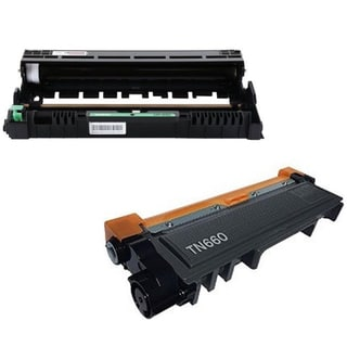Brother Compatible TN660 and DR630 High Yield Toner Drum Combo (2-Pack)