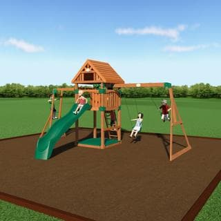 Backyard Discovery Capitol Peak Wooden Swingset