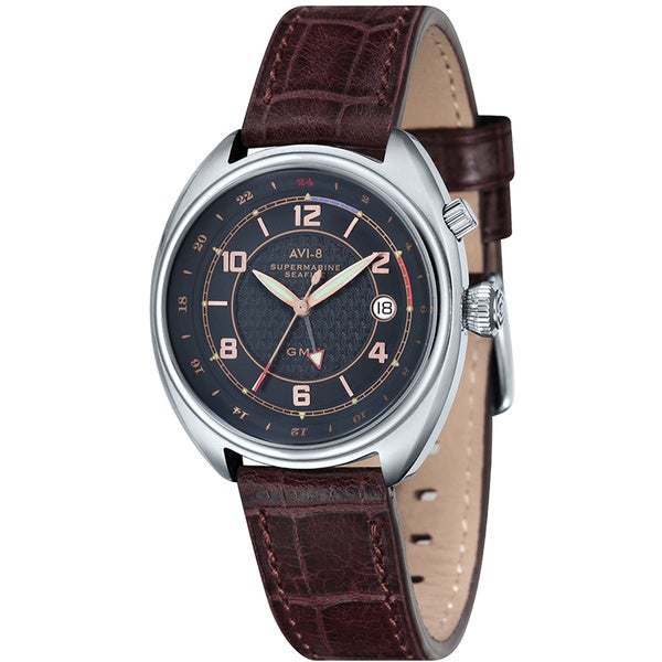 AVI-8 Men's Supermarine Seafire Leather Strap Watch