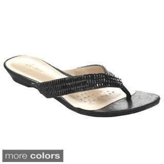 De Blossom Women's Rhinestone Sandals