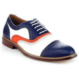 Ferro Aldo Men's MFA-19355 Blue Colorblocked Oxford Shoes