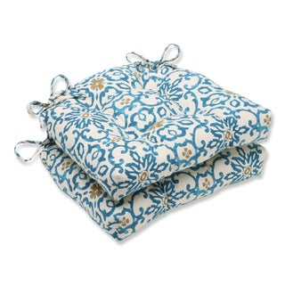 Pillow Perfect Souvenir Scroll Reversible Chair Pad (Set of 2)