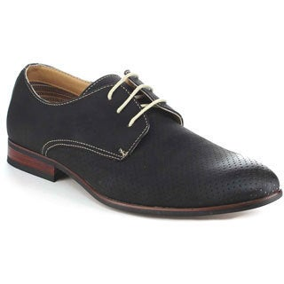 Ferro Aldo Men's MFA-19237A Black Perforated Oxford Shoes