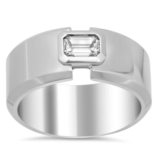 18k White Gold Men's 5/8ct TDW Diamond Ring (F-G, VS1-VS2)