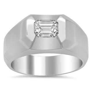 18k White Gold Men's 1 1/10ct TDW Diamond Ring (F-G, VS1-VS2)