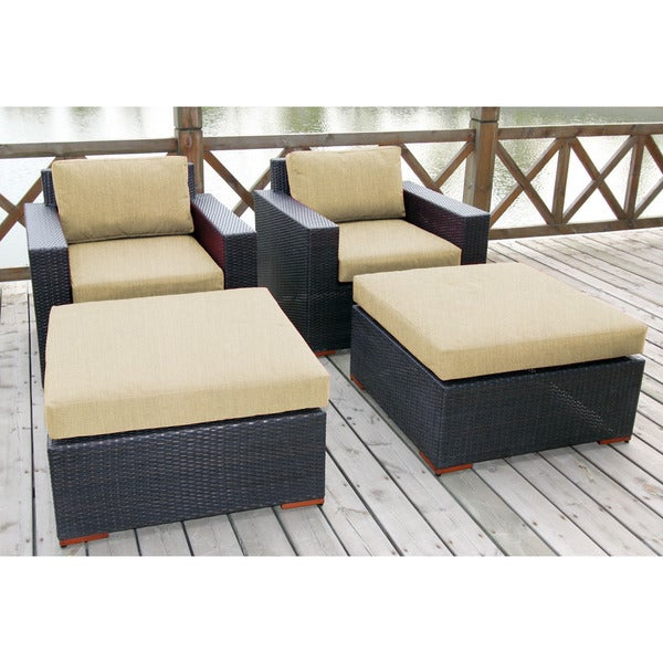 Bellini 'Andover' Club Chair and Ottoman (2-pack)