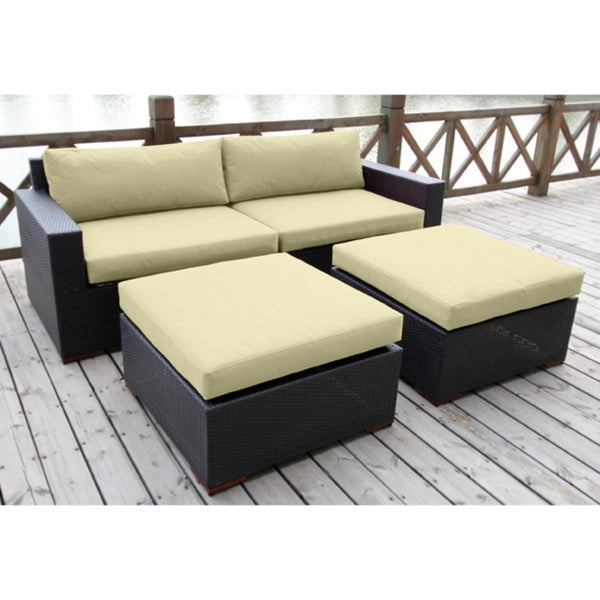 Bellini 'Andover' 4-piece Deep Seating Sofa and Ottoman Set