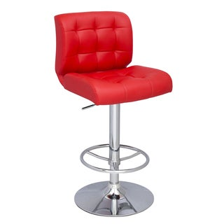 Christopher Knight Home Red Stitched Seat and Back Pneumatic Stool