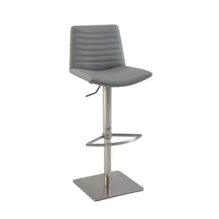 Christopher Knight Home Grey Ribbed Back and Seat Pneumatic Stool