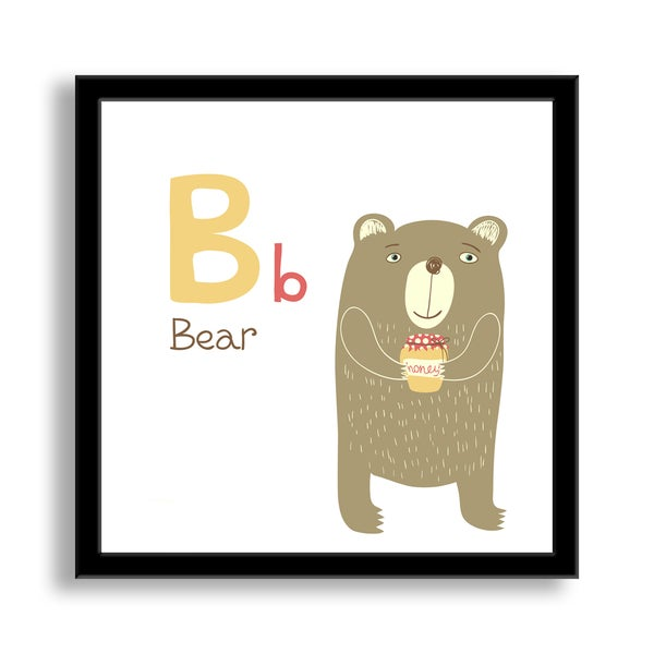 Why Not Me CZ's 'B is for Bear' Framed Paper Art