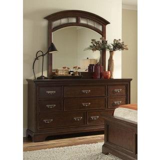 Cognac 8-drawer Dresser/ Mirror Set