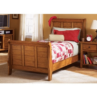 Aged Oak Youth Sleigh Bed