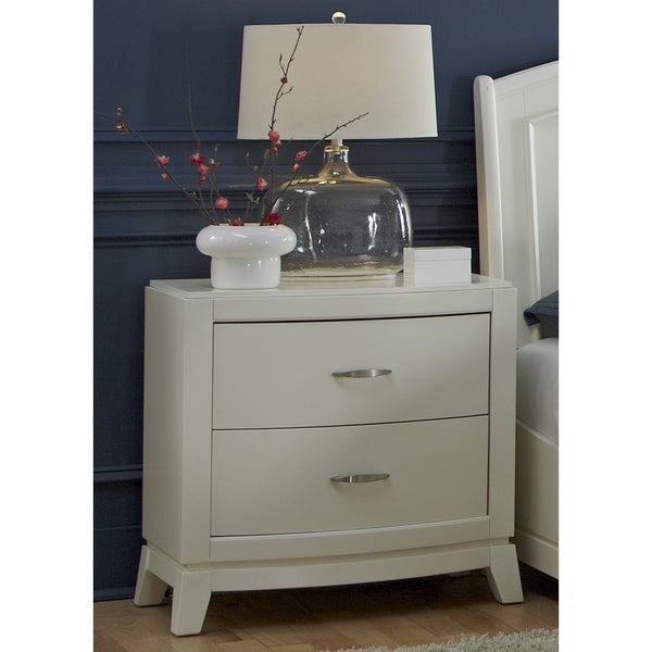 White Truffle 2-drawer Nightstand