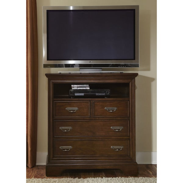 Cognac 3-drawer Media Chest