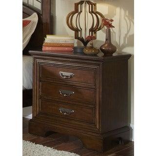 Cognac 3-drawer Nightstand
