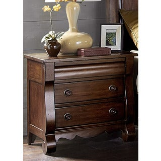 Rustic Russet 3-drawer Nightstand