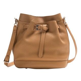 Wa Obi 'Nora' Tan Leather Bucket Bag
