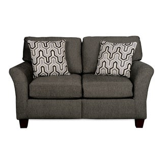Sofab Shag Suit Charcoal Love Seat