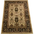 LYKE Home Prism Black-cream/ Cream Area Rug (8' x 10')