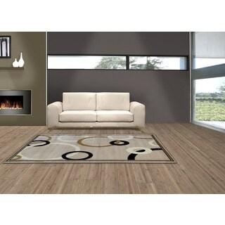 Audrey Cream/ Beige 543 Area rug (8' x 11')