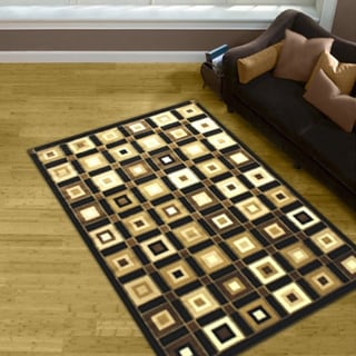 LYKE Home Prism Brown/ Beige Area Rug (8' x 10')