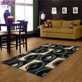 LYKE Home Prism Green/ Beige Area Rug (8' x 10')