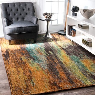 nuLOOM Modern Abstract Painting Multi Rug (7'10 x 11')