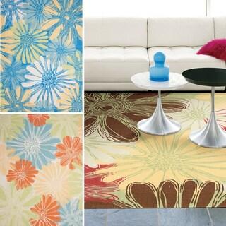 Rug Squared Palmetto Daisy Indoor/Outdoor Area Rug (5'3 x 7'5)