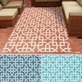 Rug Squared Palmetto Geometric Indoor/Outdoor Area Rug (4'3 x 6'3)