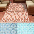 Rug Squared Palmetto Geometric Indoor/Outdoor Area Rug (7'9 x 10'10)