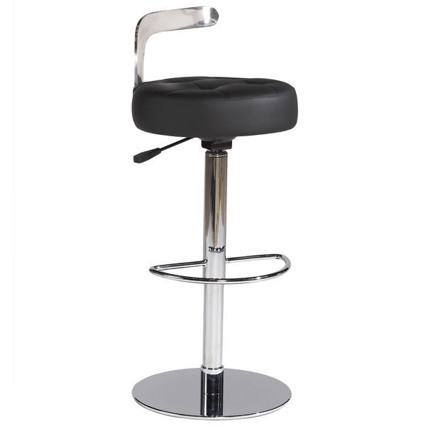 Christopher Knight Home Camden Black Pneumatic Gas Lift Adjustable Swivel Stool 14919214