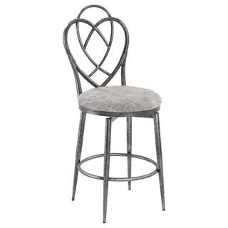 Christopher Knight Home Lexis Brushed Pewter Designed Back Memory Swivel Bar Stool